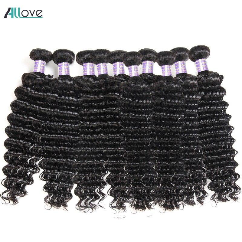Wholesale Deep Wave Human Hair Bundles 10pcs Brazilian Hair Weave Bundles Natural Color Non Remy Human