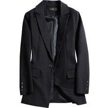 2019 Autumn Spring Women Coat Fashion Casual Coat Female Elegant Jackets Long Sleeve Blazer