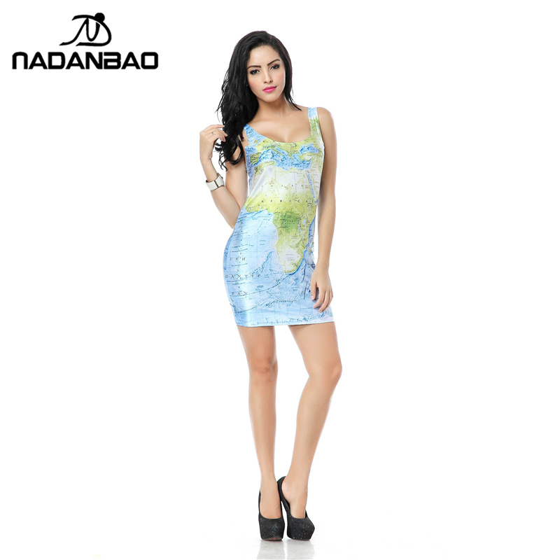 Nadanbao bandage dresses world map dress tank digital print sexy nadanbao bandage dresses world map dress tank digital print sexy mini bodycon women summer party club black milk clothing in dresses from womens clothing gumiabroncs Choice Image