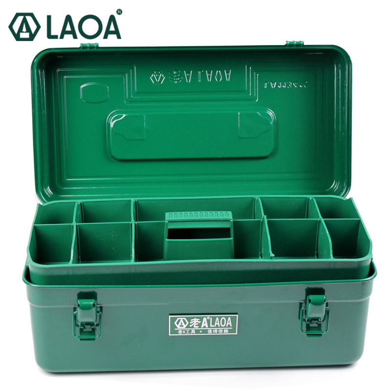 LAOA Multifunction Thicken Iron toolkit Size(410*210*180mm) Professional repair ToolBox Household parts box clearaudio professional analogue toolkit