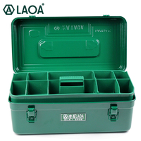 LAOA New Arrival Multifunction Thicken Iron Toolkit Size 410 210 180mm Professional Repair ToolBox