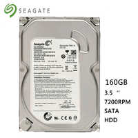 "Seagate marca 160 GB PC de escritorio 3,5 ""HDD 2 GB/s disco duro interno 8 MB-16 MB Buffer disco Duro 72 HD 7200 RPM envío gratis"