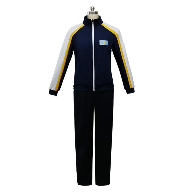 2017 Yuri on Ice Otabek Altin Daily Sportswear halloween costumes Uniform Costume Jacket Pant Custom Made Superstar Tow