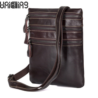 UniCalling 100% leather messenger bag men genuine leather retro male shoulder bags quality leather men small bag
