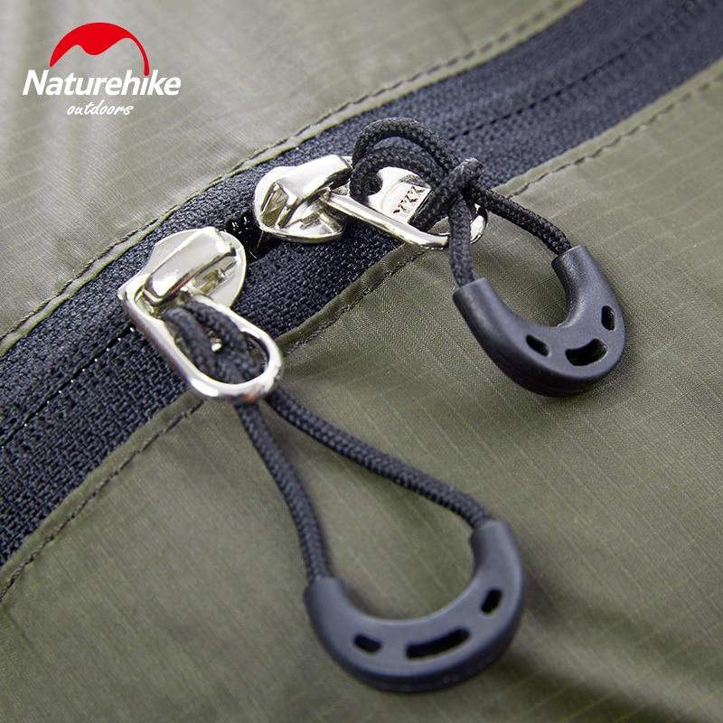 Naturehike Outdoor 20D Coating Silicone Duffel Bag Anti Tear Waterproof Travel Bags Unisex Stuff Sacks Ultralight Black 145g