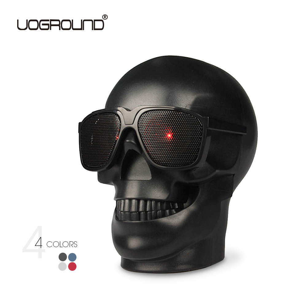 New Plastic Skull Shape Wireless Bluetooth Speaker NFC Subwoofer Multipurpose Skull Speaker with Package Drop Shipping wireless multifunctional v4 0 edr bluetooth speaker touch control with nfc function
