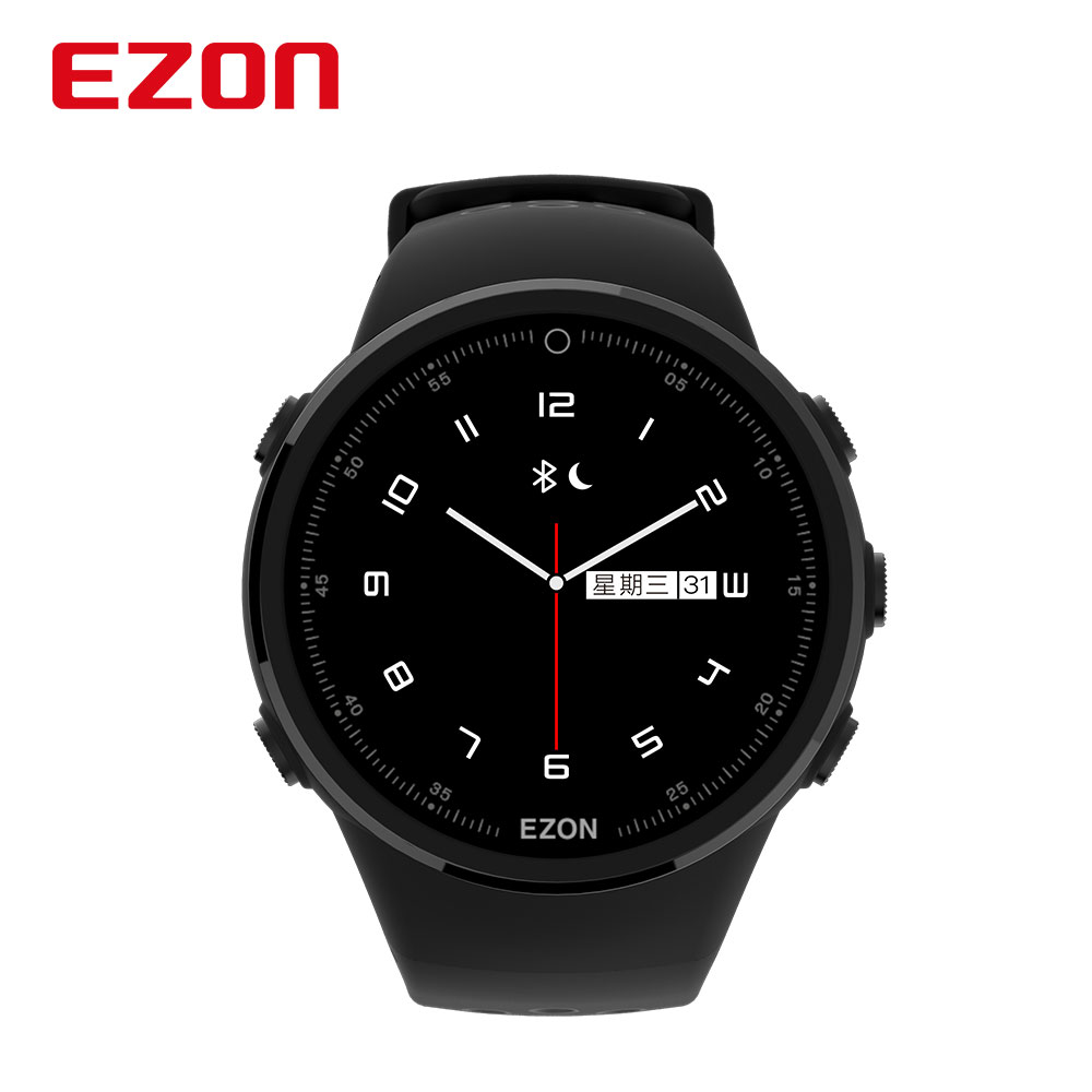 EZON GPS Watch Smart Bluetooth Optical Sensor Heart Rate Monitor Digital Sport Watch for Android IOS Phone Men saat Reloj Hombre ezon g2 smart sports bluetooth gps electronic watch gym running jogging fitness calories counter digital watch for ios android
