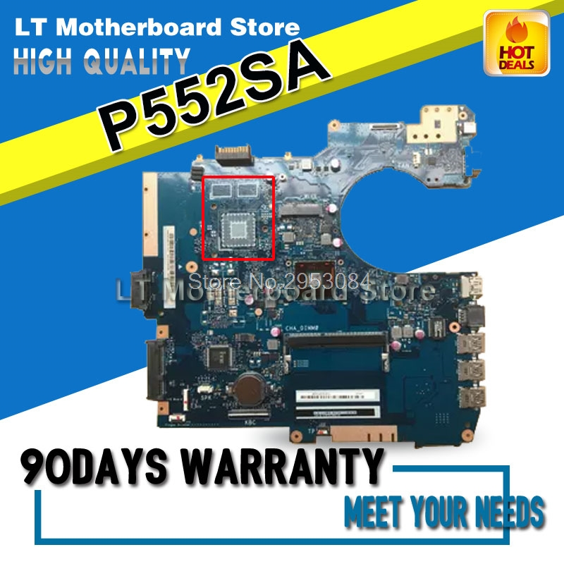 For ASUS P552S P552SA PRO552SJ Laptop motherboard mainboard 100% tested &working S-4 hot for asus x551ca laptop motherboard x551ca mainboard rev2 2 1007u 100% tested new motherboard