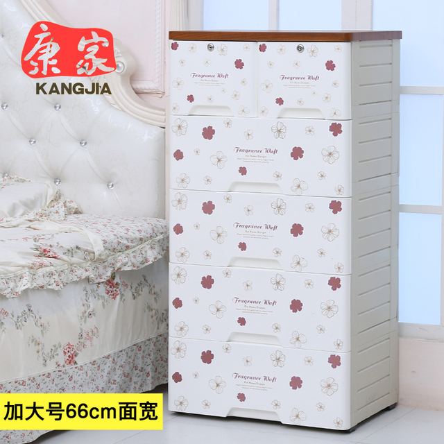 Kang baby child wardrobe storage cabinets IKEA thick wood top drawer ...