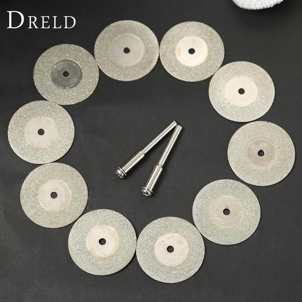 10pcs 30mm Diamond Cutting Discs Cut Off Blade Drill Bit for Dremel Rotary Tool Abrasive Disc dremel accessories disco de corte 6mm 30mm cutting blade  bead bit for