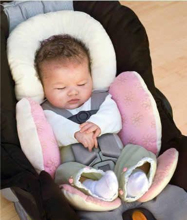 Baby Bescherming Trolley Mat/Auto Zitkussen/Head Body Beschermende Pad Dubbelzijdig Patent