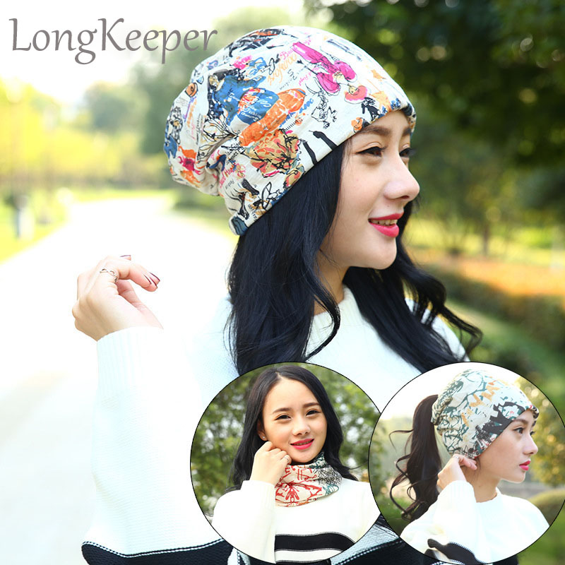 Hot Sale Korean Women Piles Cap Cover Headgear Warm Beanies Winter Scarf Knitted Hat Hiphop Skullies Girls Gorros Beanies GL53 skullies hot sale female tide leather braids knitted cap autumn and winter women s curling ear warmers headgear 1866784