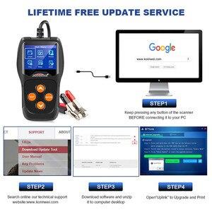 Image 5 - バッテリーテスター12v自動車負荷車デジタルバッテリーアナライザー電池スキャナ多言語車両バッテリー診断ツール