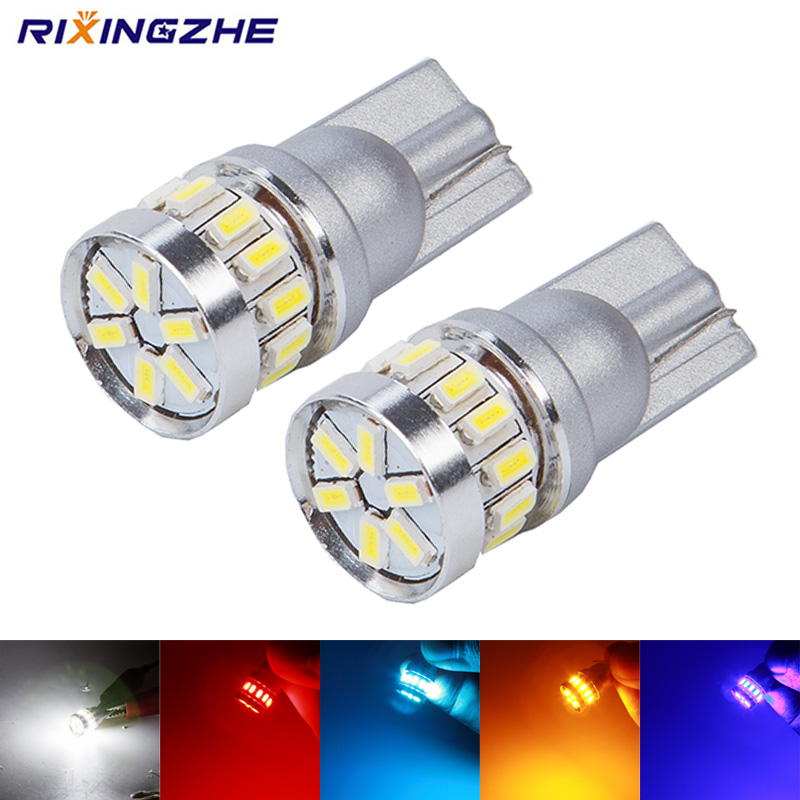 2 LED Lamps T10 White 5W Light License Plate Position Car 12V Canbus ☆ 57 vs ODB