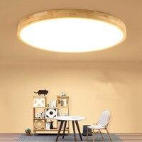 Japanese ceiling lamps for Living room Bedroom Kitchen wood ceiling lamp ultra thin Art Decor Restaurant Wood chandelier