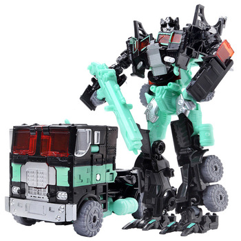 19cm Transformation Car Robot Toys Bumblebee Optimus Prime Megatron Decepticons Jazz Collection Action Figure Gift For Kids - C