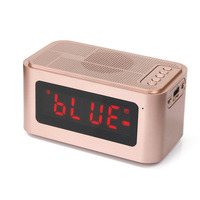 Vogue Multi Functional MP3 Music Speaker LED Display Despertador Digital watch Portable Digital Alarm Clock with Radio Function