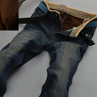 HOT 2014 Warm Jeans Brand Jeans Men S Autumn Winter Jeans Warm Flocking Warm Soft Wool