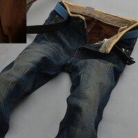 HOT 2014 Warm Jeans Brand Jeans Men S Autumn Winter Jeans Warm Flocking Warm Soft Wool