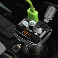Car MP3 Audio Player Bluetooth FM Transmitter FM Modulator Car Hansfree LCD TF Micro SD Dual