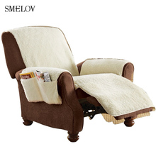 1 Seat Warm Comfort Sobakawa Snuggle Up Recliner Cover Office Chair Sofa  Couch Seat Cover Plush