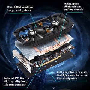 Image 3 - Carte graphique MAXSUN rx 580 2048SP grand Mac plus 8G amd GDDR5 256bit 7000MHz 1168MHz PCI Express X16 3.0 14nm rx580 carte vidéo