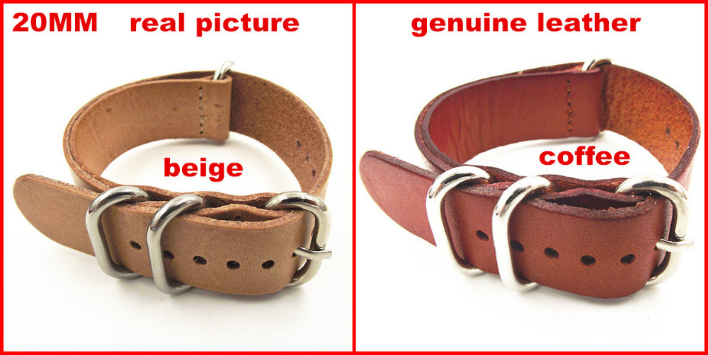 zulu strap New arrived - 1PCS High quality 20MM Nato strap genuine leather Watch band NATO straps watch strap-100802 hobbysa eme gas engine 35cc for light wood gasoline aircraft with double cylinder