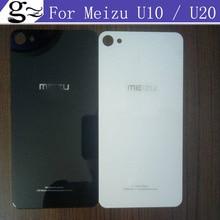 Original Battery Case for Meizu U10 5.0″ Meizu U20 5.5 inch Back Door Cover Cases+Adhesive Strips black white in stock