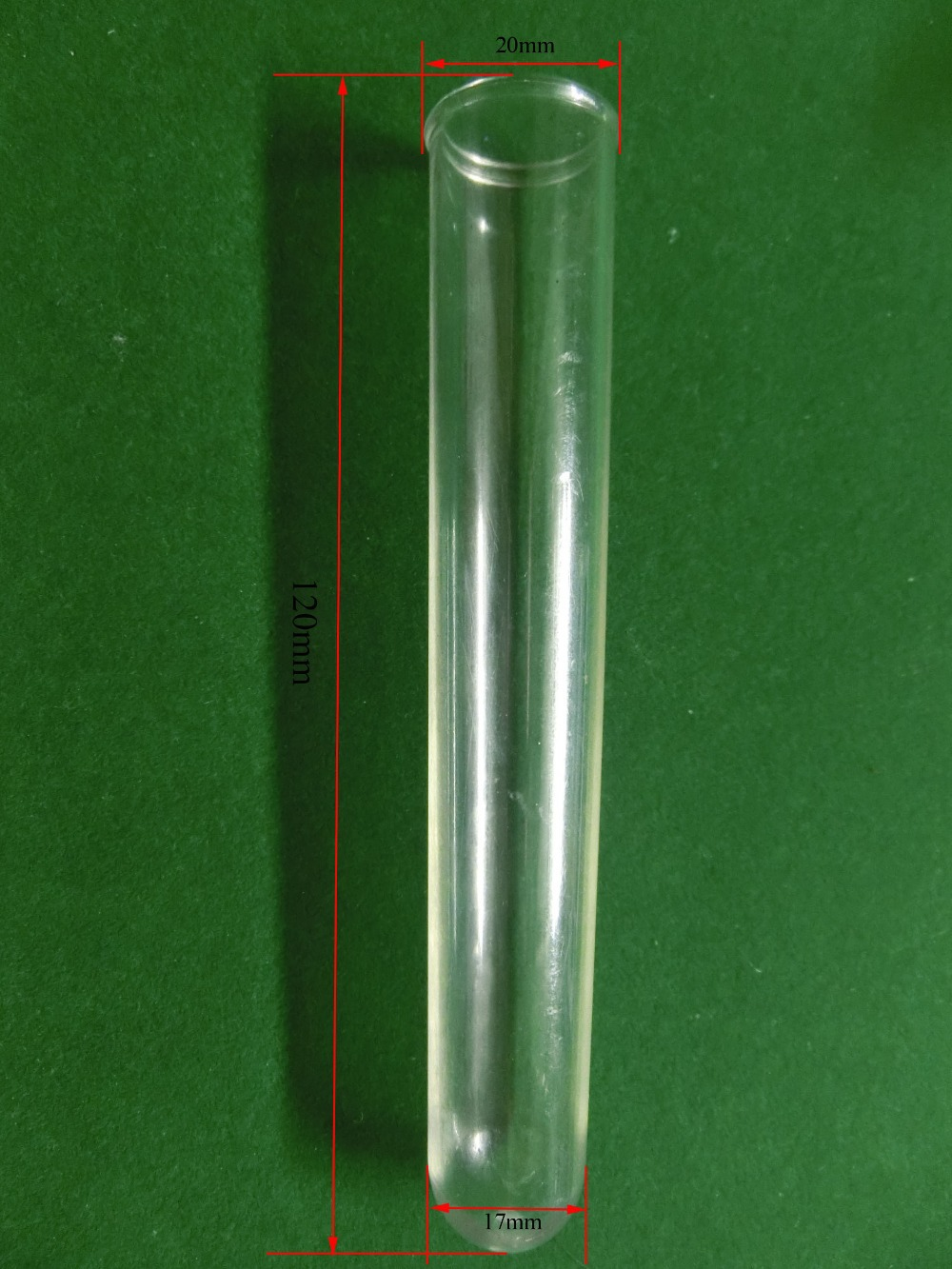 Free Shipping Plastic Lab Test Tube 10ml Vol  PET 120mm Length 20mm Diameter  Without Cap