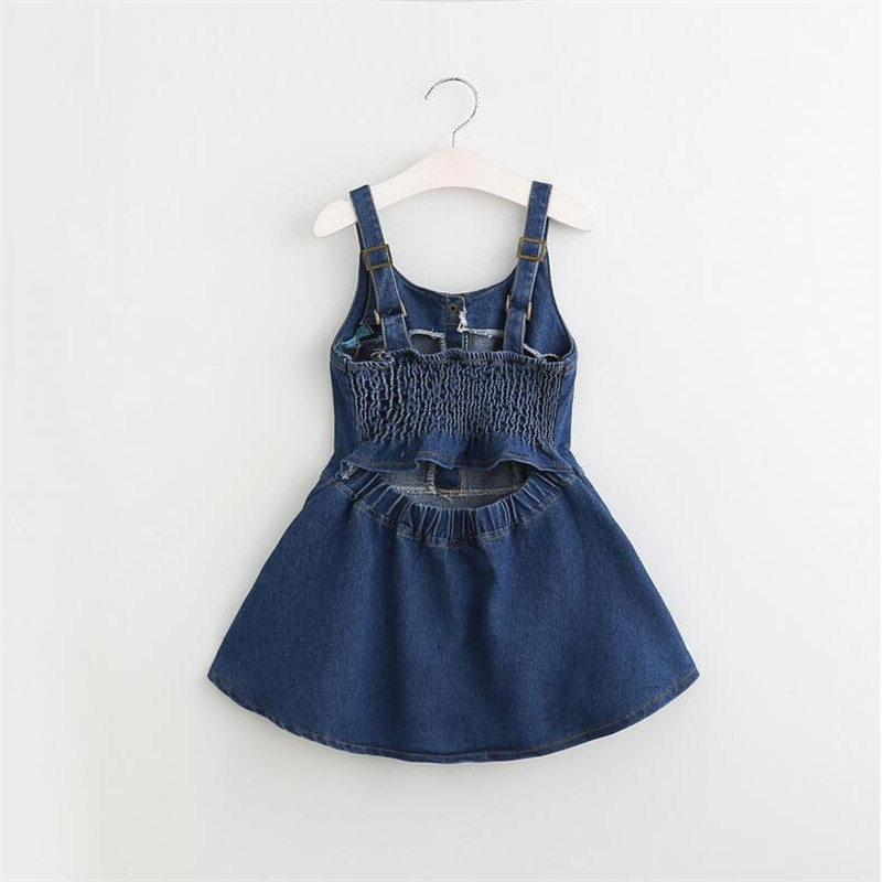 2f0aabac Aliexpress.com : Buy Dress 2017 Casual Summer Style Bull puncher Dresses  Kids Clothes Backless Denim Dress Shoulder Straps 3 7Y from Reliable dress  kids ...