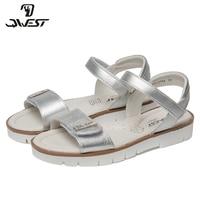 FLAMINGO 2018 Summer kids Sandals Hook&Loop Flat Arched Design Chlidren Casual Princess Shoes Size 32 37 For Girls 81S JSD 0794