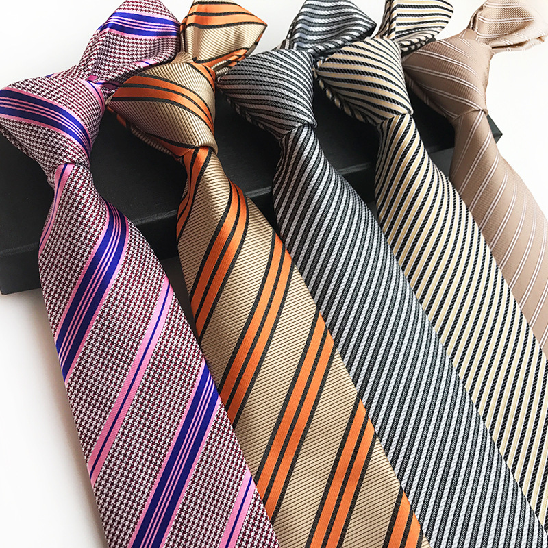 New Classic Stripes Jacquard Woven Silk Men's Tie Necktie Bow Ties Wedding Party