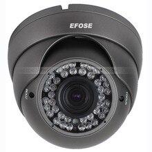 CCTV Dome Camera 2.8-12mm Lens CMOS 1000TVL Security Camera With OSD Menu Star-light (Default black)