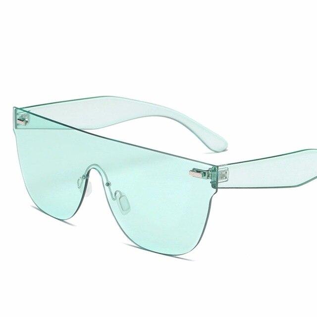 2b96dc77ce Color caramelo Gafas de sol mujeres de lujo marca cuadrado azul claro Gafas  de sol señoras