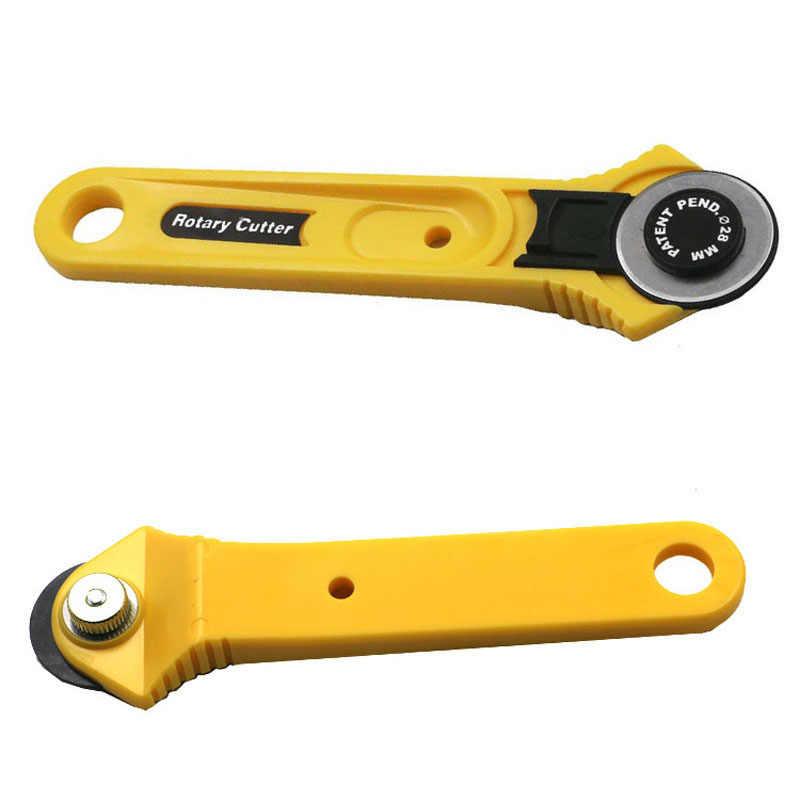 28mm Rund Rotary Cutter Messer Sicherheit Klinge Patchwork Setzen Nähen Quilten Stoff Schneiden Tool