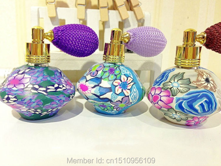 Wholesale 10ml air bag polymer clay perfume bottle with Refillable Atomizer Spray gasbag perfume bottle perfume