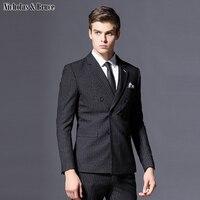 N&B Men's Suit Classic Suit for Wedding Latest Stripe Coat Pant Designs Suit Men 2019 Large Dresses 3 Piece Suits Tuxedo SR5