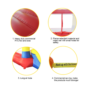 Image 5 - YARD Inflatable House Trampoline Bounce Castle  with Slide Home Use Park Inflatable Bouncer For Children Outdoors Games