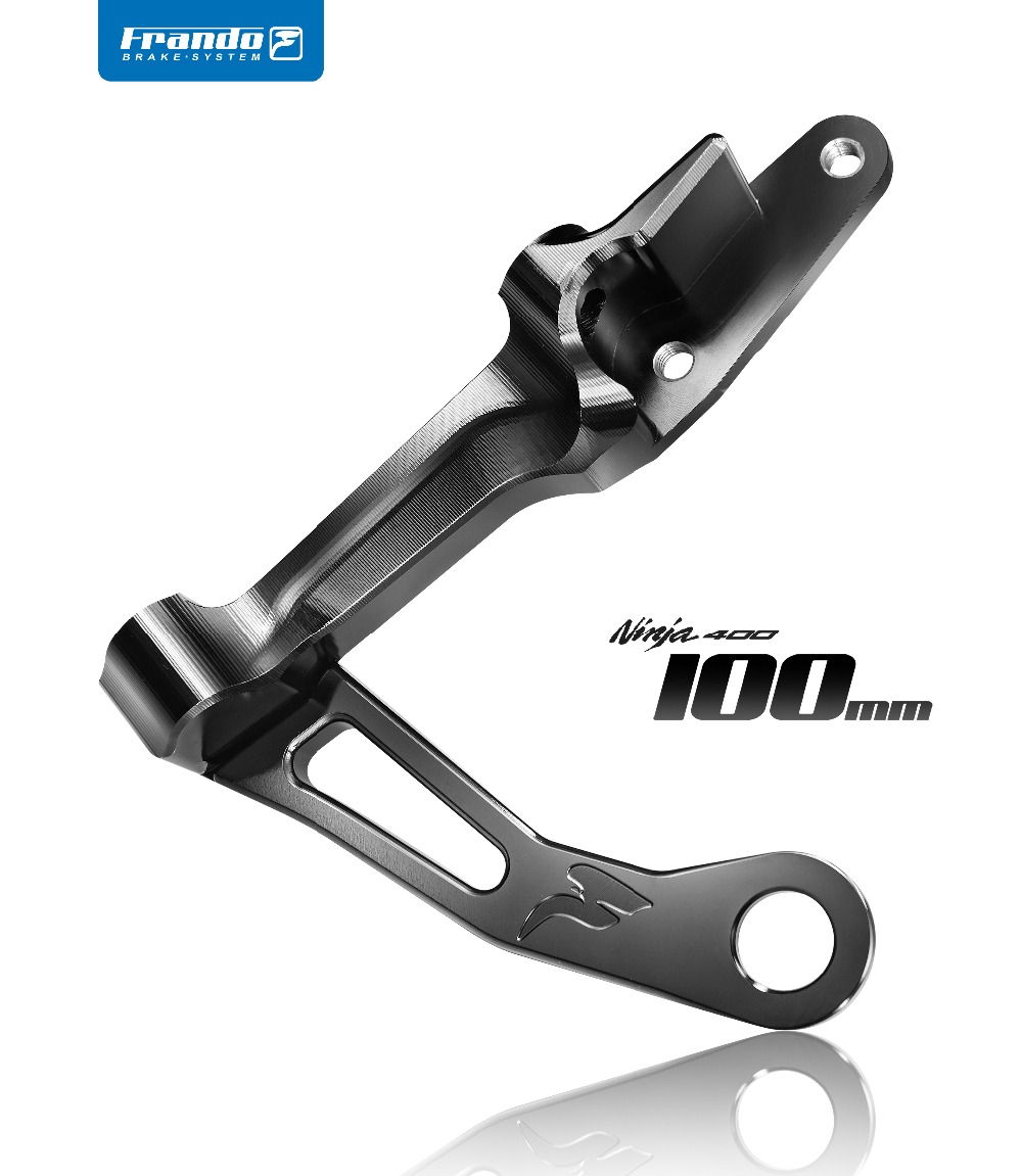 Frando CNC aluminim alloy brale caliper bracket For kawasaki Ninja 400 Motorcycle modifivation 100mm brake