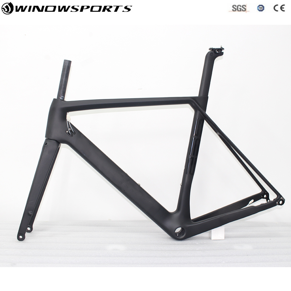 Aero Disc Road Frame Carbon Aero Frameset Ud Matte/glossy BB86 Thru Axle 142mmX12mm 700c Bicicleta Carbon Bike Frame