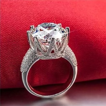 White Gold Color Ring 8 Carat Crown AAA Cubic Zircon