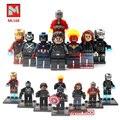 Marvel Super Hero Зимний Солдат Человек-Паук Фигурки Гражданской Войны X-Men Deadpool Халк Железный Человек Капитан Строительный Блок детские Игрушки
