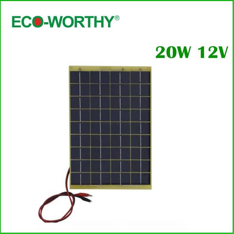 20w 12V Solar Panel Kit Home Battery Camping Carava&solar charger&solar panel 60w 12v solar panel kit home battery camping carava