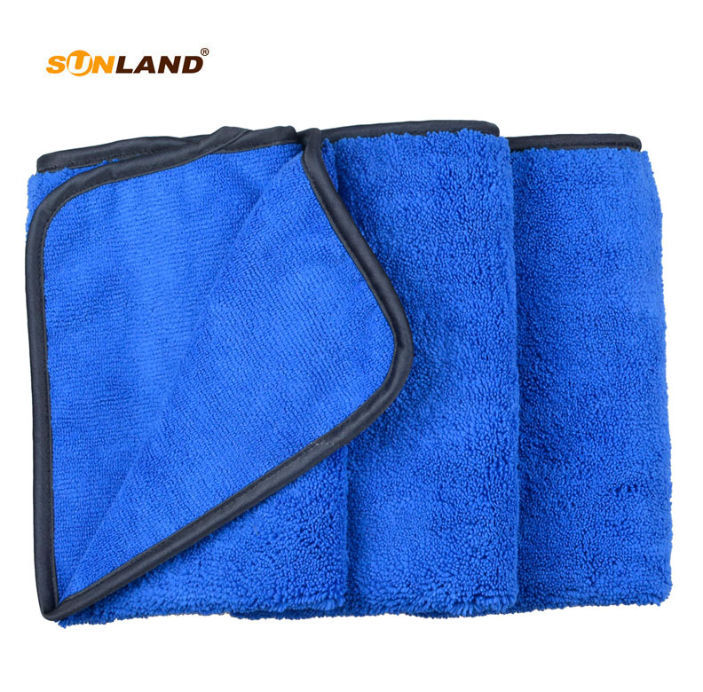 3pcs 40cmx60cm Multi-purpose Microfiber Car Cleaning Cloths 400gsm Tow Different Sides for Polishing