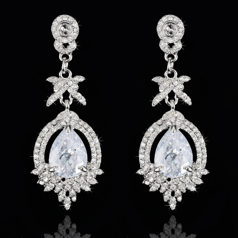 8b37bc90f55d Corea moda pendientes de cristal con piedra zirconia ear studs para las mujeres  pendiente de la manera al por mayor de la Navidad pendientes del rhinestone
