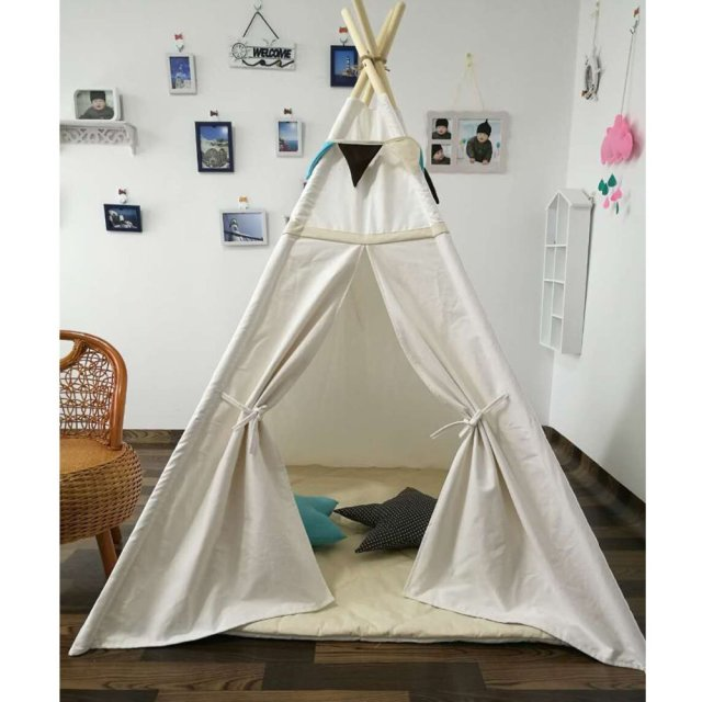 Free Love @New design white color kids play tent indian teepee children playhouse children play  sc 1 st  AliExpress.com & Free Love @New design white color kids play tent indian teepee ...