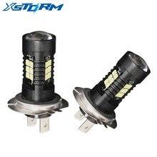2 шт H7 Светодиодный лампа супер яркий автомобиль противотуманные фары 12 V 24 V 6000 K белый вождение автомобиля 21 3030-SMD кроссовки Светодиодная лампа для авто H7 лампы