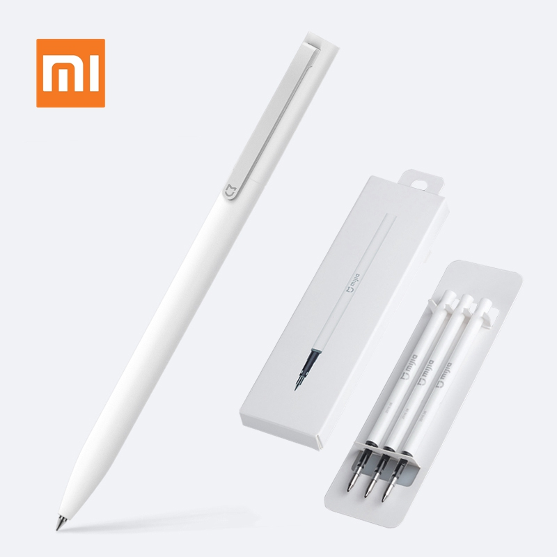 Xiaomi Mijia Pen With 0.5mm Swiss Refill 143mm Rolling Roller Ball Mi Xiomi Sign Pen Signing Ballpoint For School Office Writing