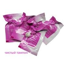 200 個ピンク英語パッケージタンポン真珠オリジナルきれいなポイントタンポンヨニ子宮デトックス真珠膣毒素クレンジングタンポン