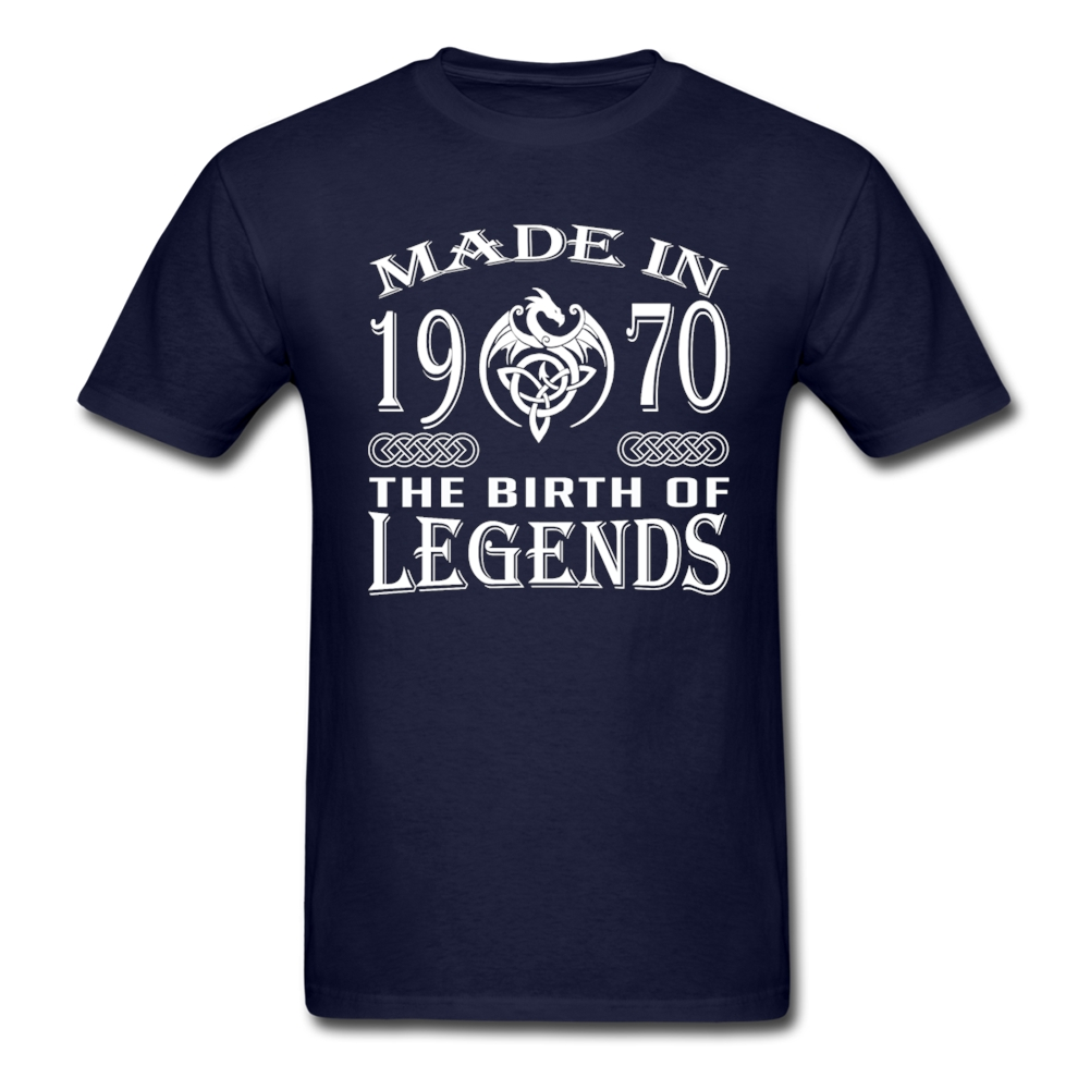 HU&GH Birthday Gift Men T Shirt Made In 1970 - The Birth Of Legends Tee Shirts Custom-Made Adult Clothing